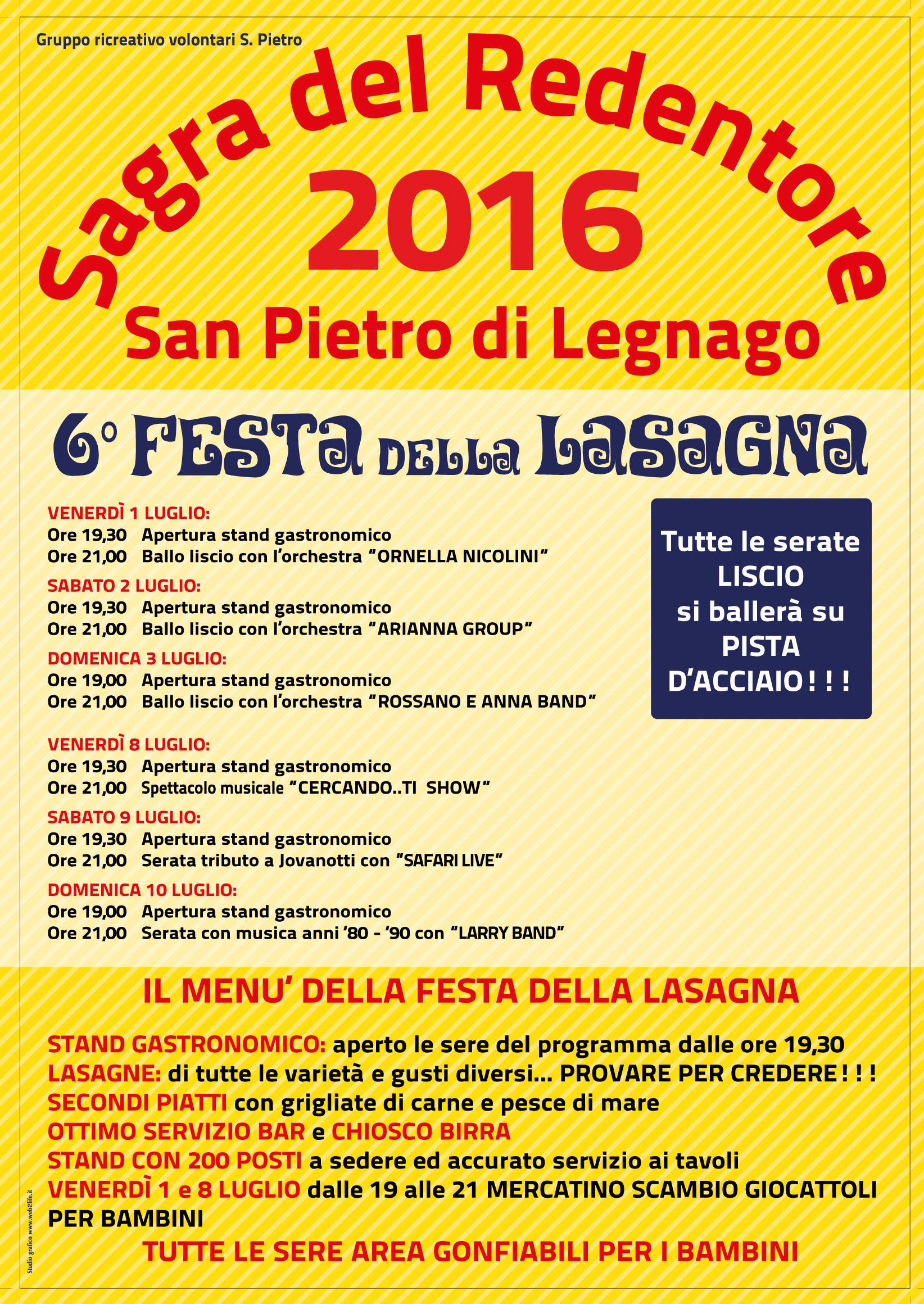 San Pietro Di Legnago Verona festa della lasagna - sagra del redentore 2016 - parrocchia