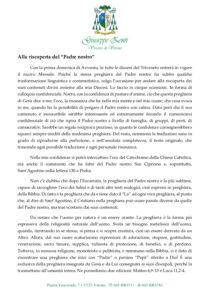 thumbnail of Alla riscoperta del Padre Nostro